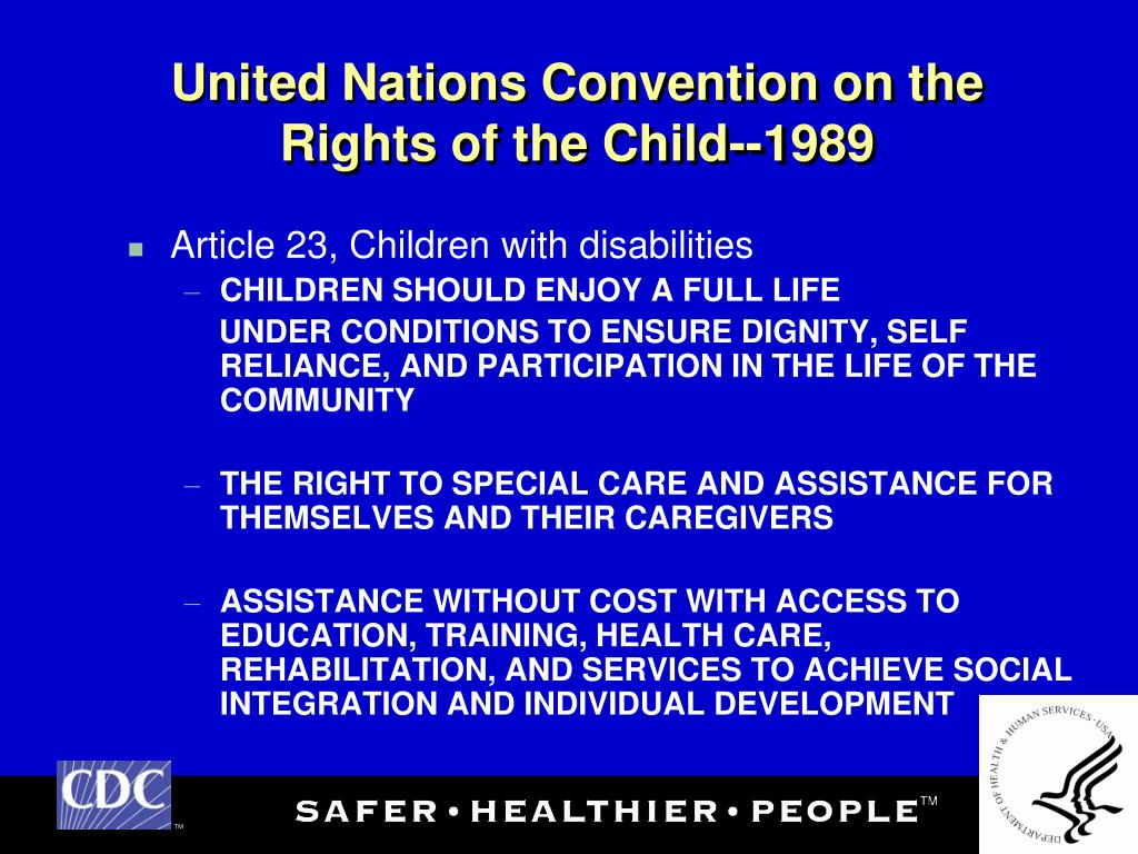 United Nations Convention on the Rights of the Child--1989