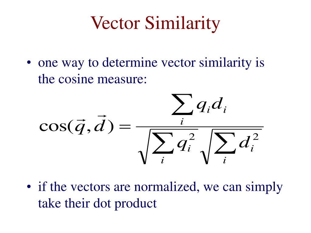 Vector Similarity