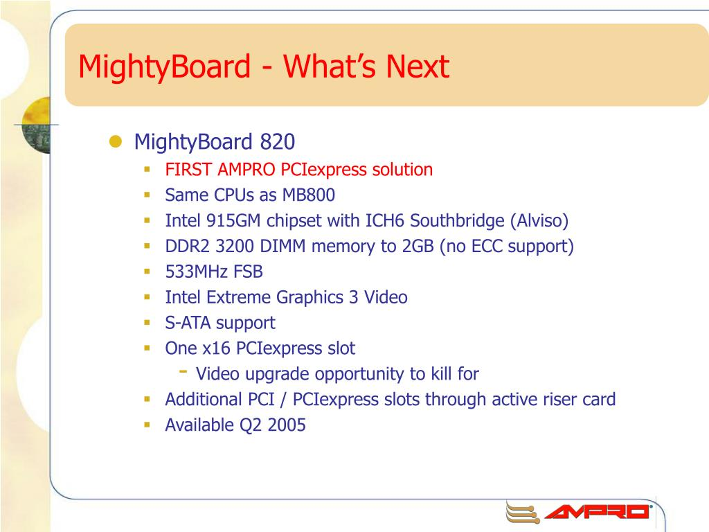 MightyBoard - What's Next