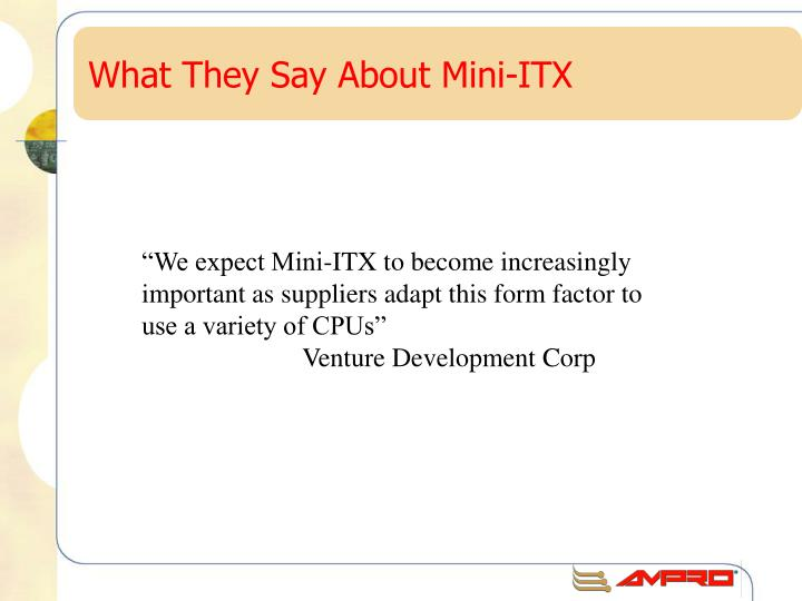 What they say about mini itx
