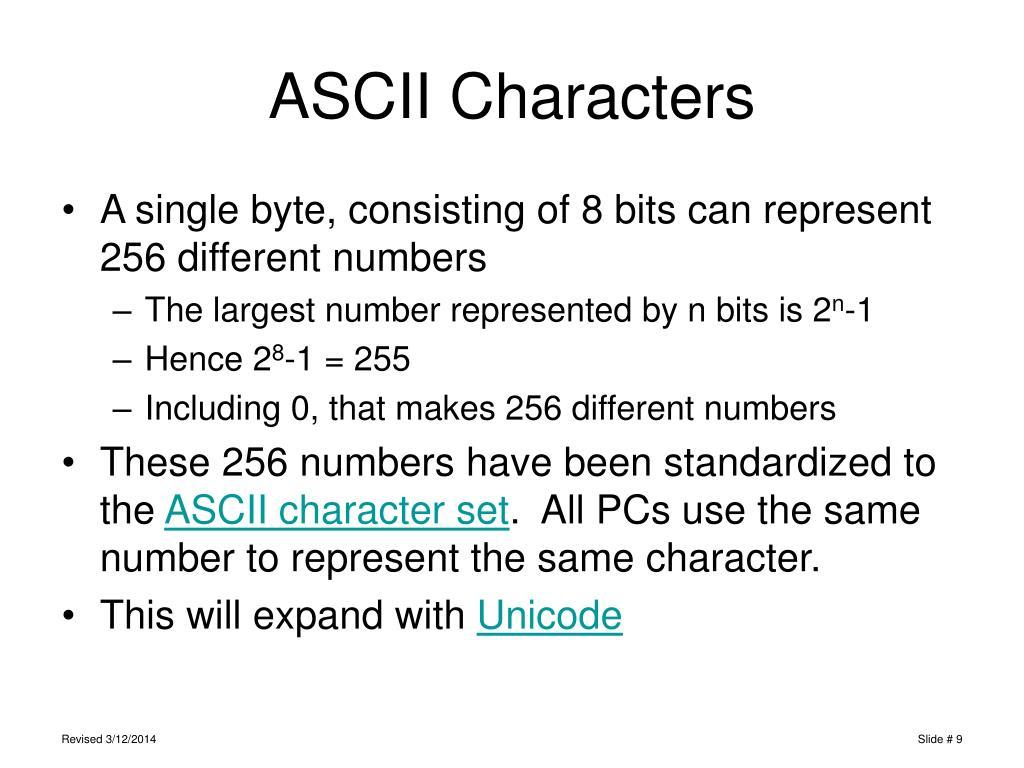 ASCII Characters