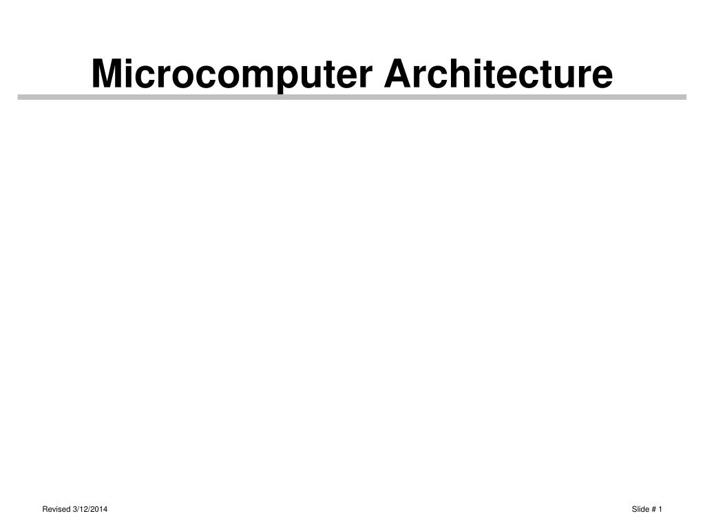 Microcomputer Architecture