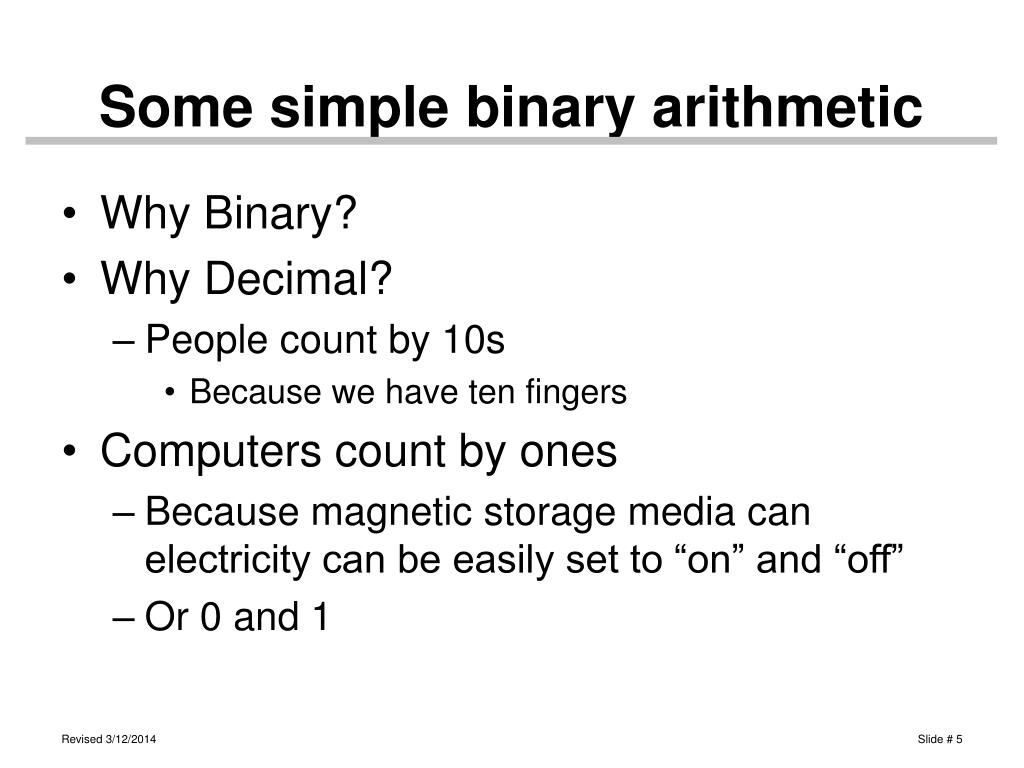 Some simple binary arithmetic
