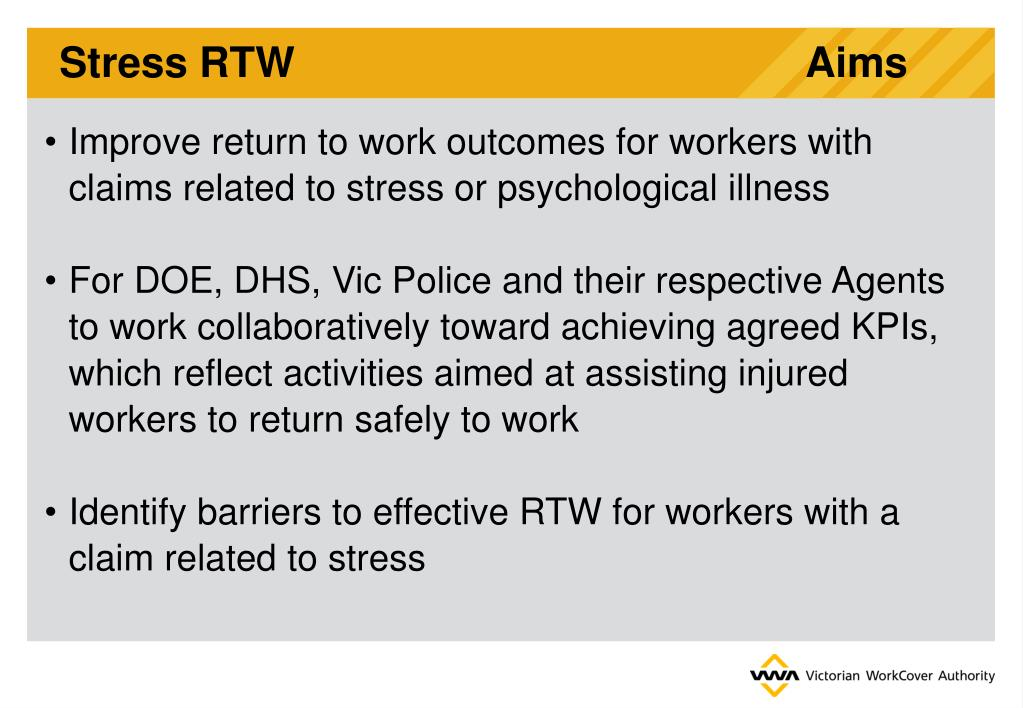 Stress RTW                                            Aims