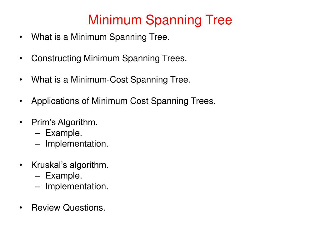 Minimum Spanning Tree