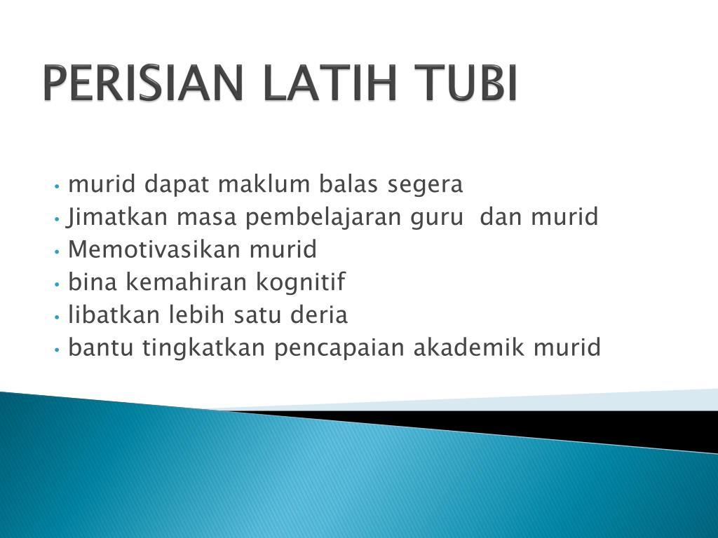 PERISIAN LATIH TUBI