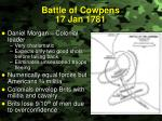 battle of cowpens 17 jan 1781