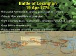 battle of lexington 19 apr 1775