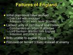 failures of england