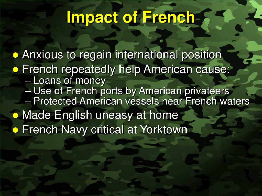 Impact of French