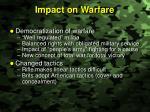 impact on warfare