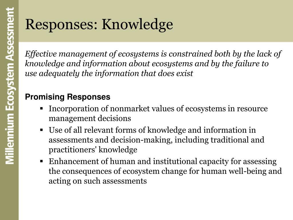 Responses: Knowledge