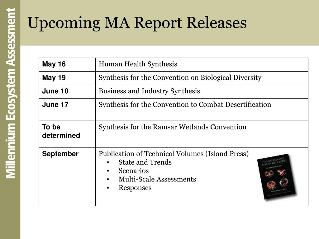 Upcoming MA Report Releases