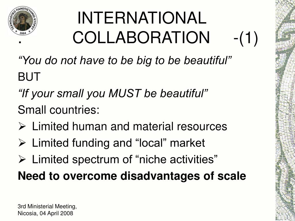 INTERNATIONAL                                    .           COLLABORATION     -(1)