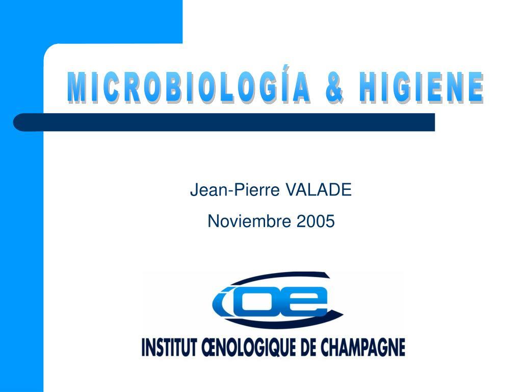 MICROBIOLOGÍA & HIGIENE
