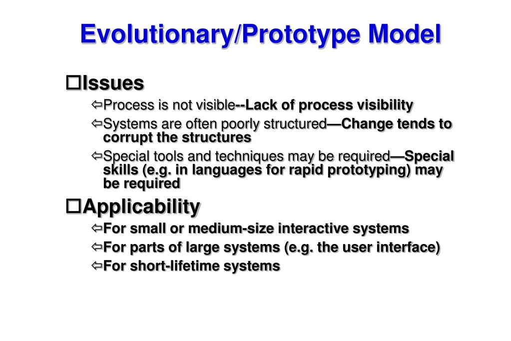 Evolutionary/Prototype Model