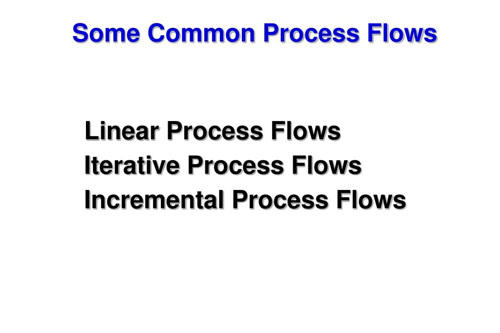 Some Common Process Flows