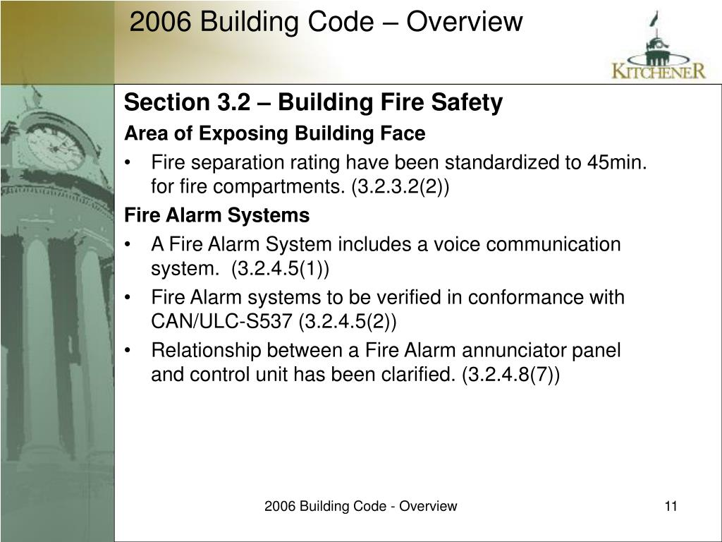 Section 3.2 – Building Fire Safety