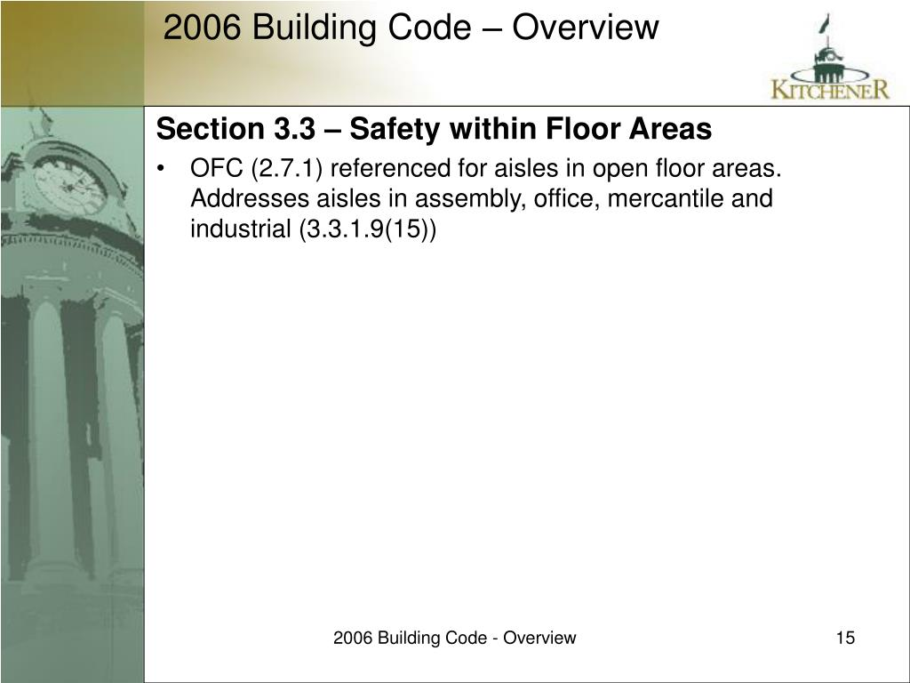 Section 3.3 – Safety within Floor Areas