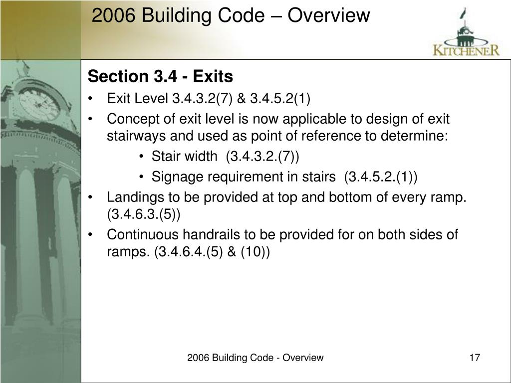 Section 3.4 - Exits
