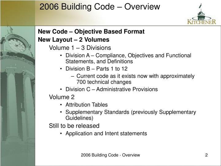 New Code – Objective Based Format