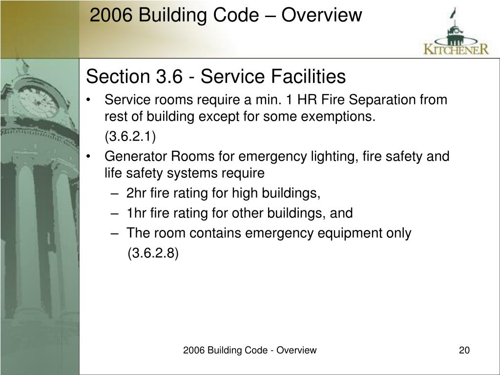 Section 3.6 - Service Facilities