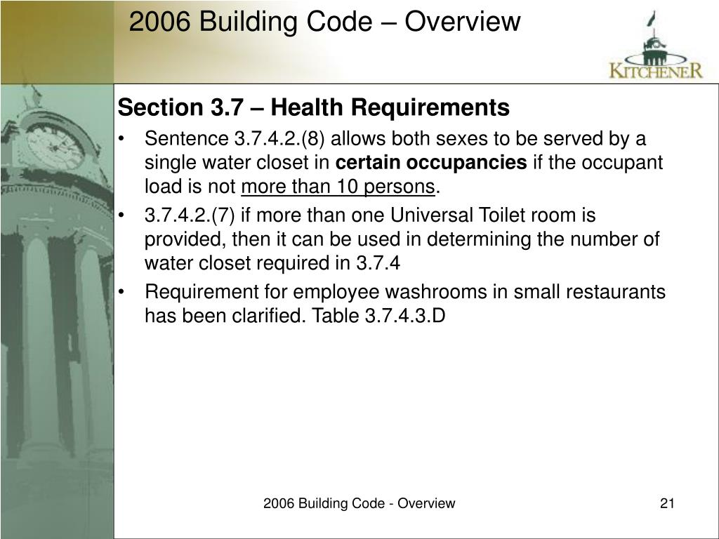 Section 3.7 – Health Requirements