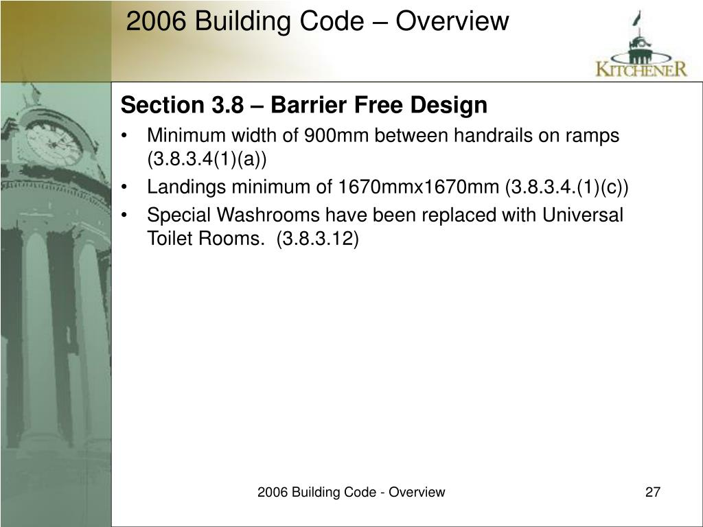 Section 3.8 – Barrier Free Design