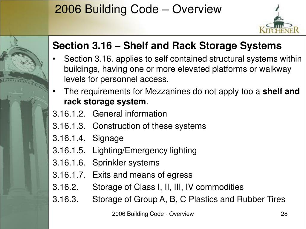 Section 3.16 – Shelf and Rack Storage Systems
