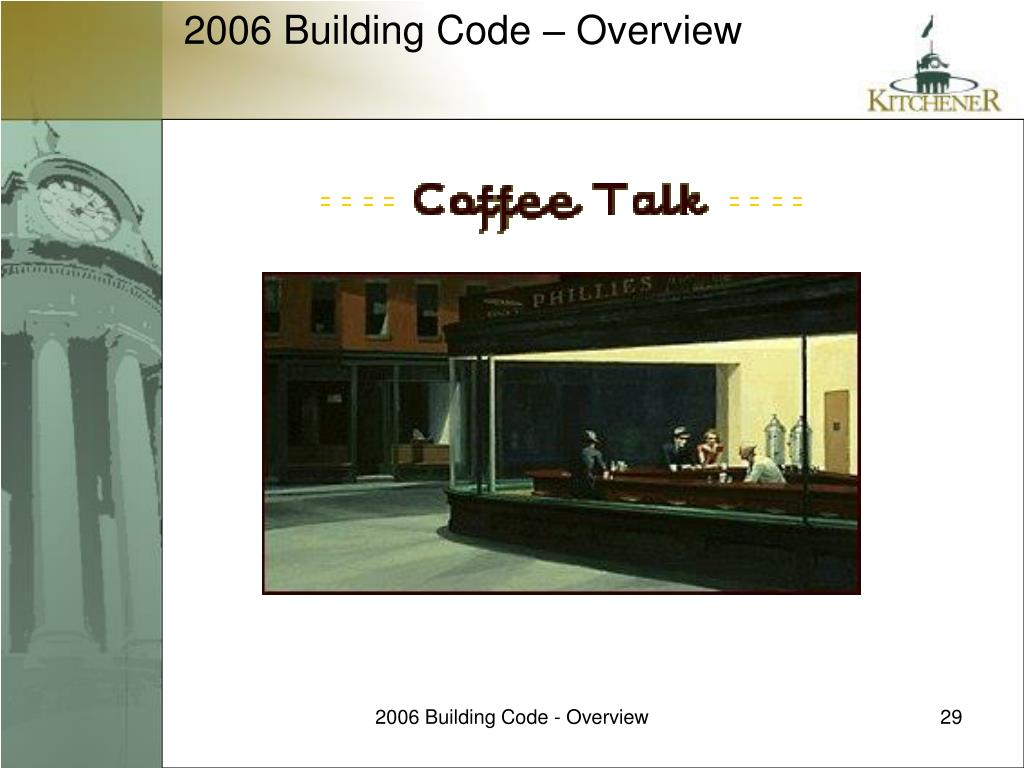 2006 Building Code - Overview
