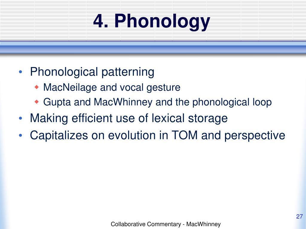 4. Phonology