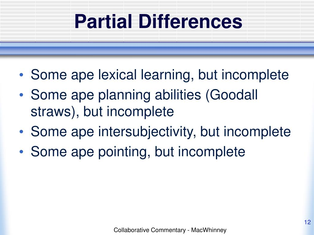 Partial Differences
