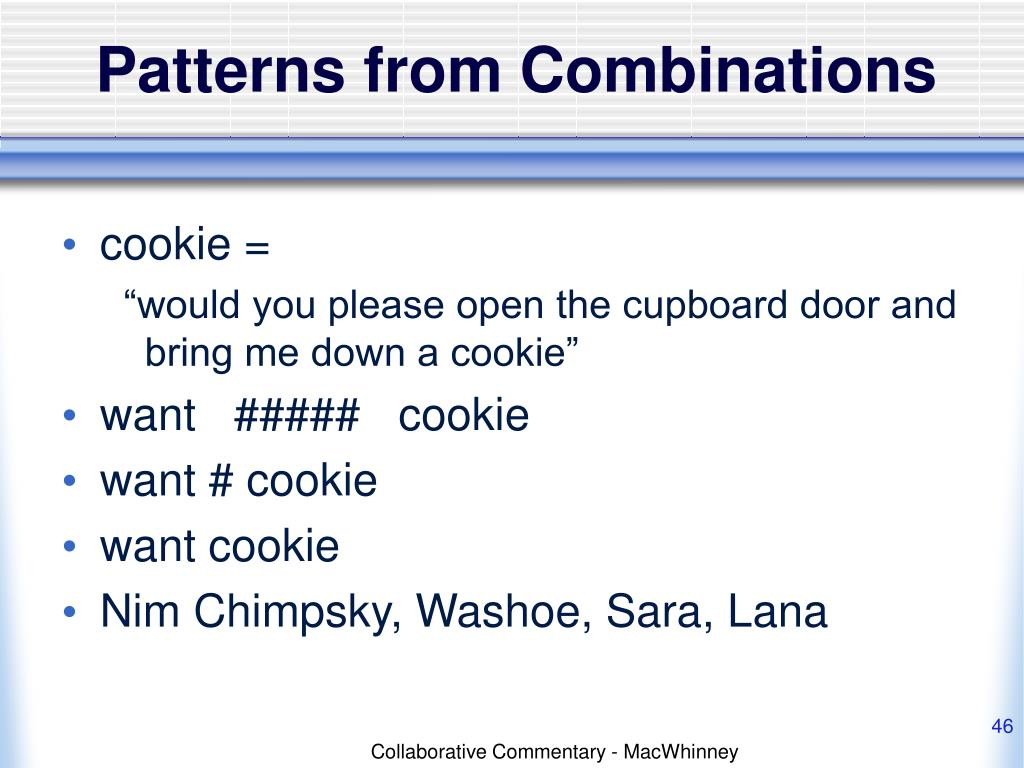 Patterns from Combinations