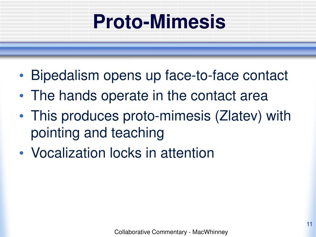 Proto-Mimesis
