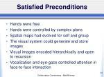 satisfied preconditions