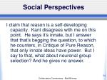 social perspectives