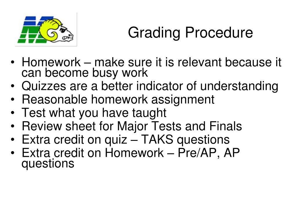 Grading Procedure
