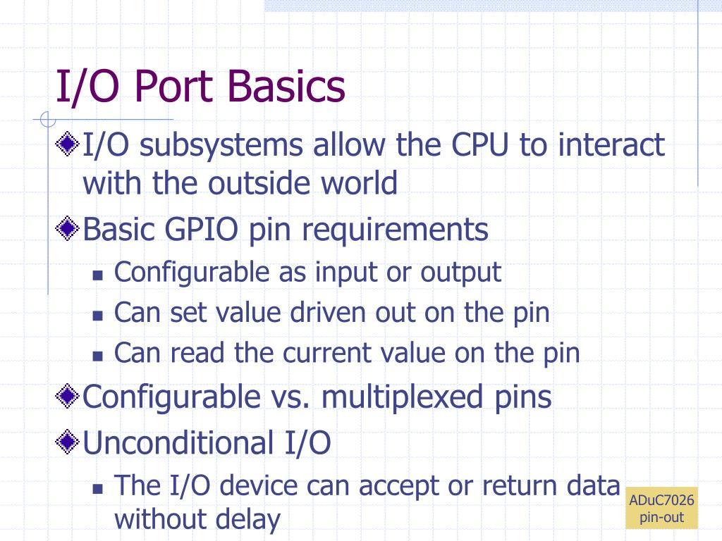 I/O Port Basics
