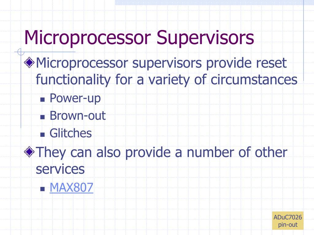 Microprocessor Supervisors