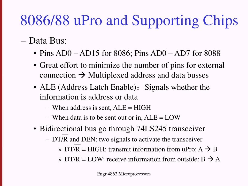 8086/88 uPro and Supporting Chips