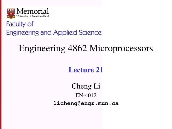 Engineering 4862 microprocessors lecture 21 l.jpg