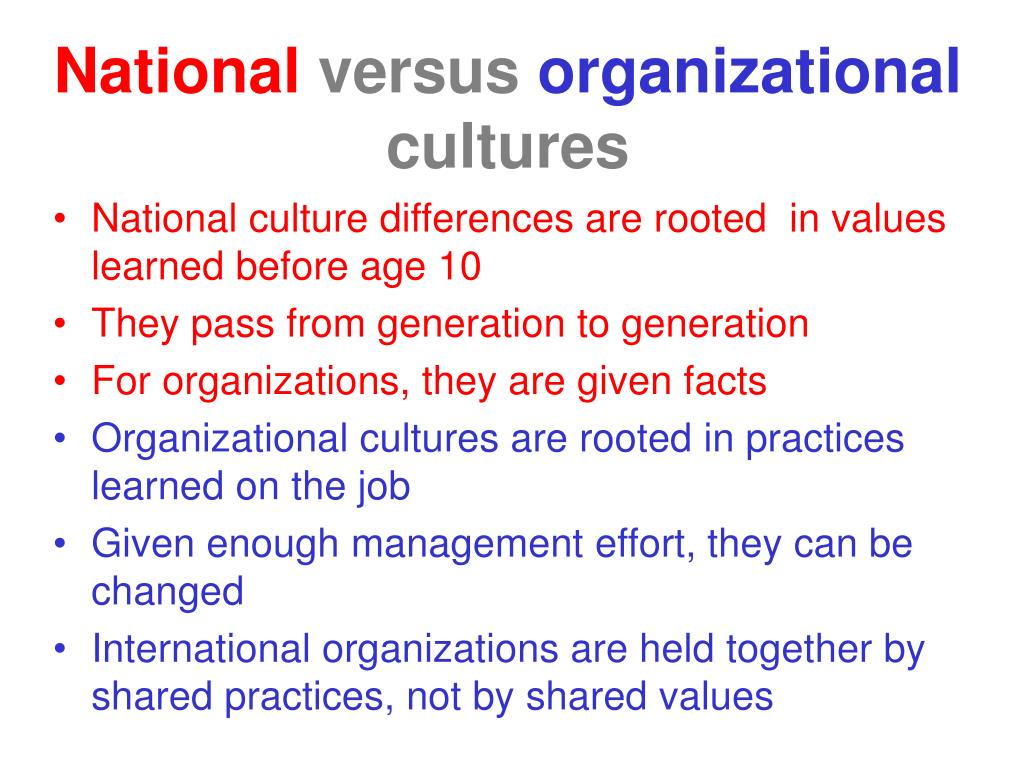 organizational culture consequences The notion that organizations may have specific cultures is found sprinkled in a vast array of publications on strategy and business policy, on organizational behaviour and theory although the absence of a solid theoretical grounding for the concept of organizational culture has been frequently.