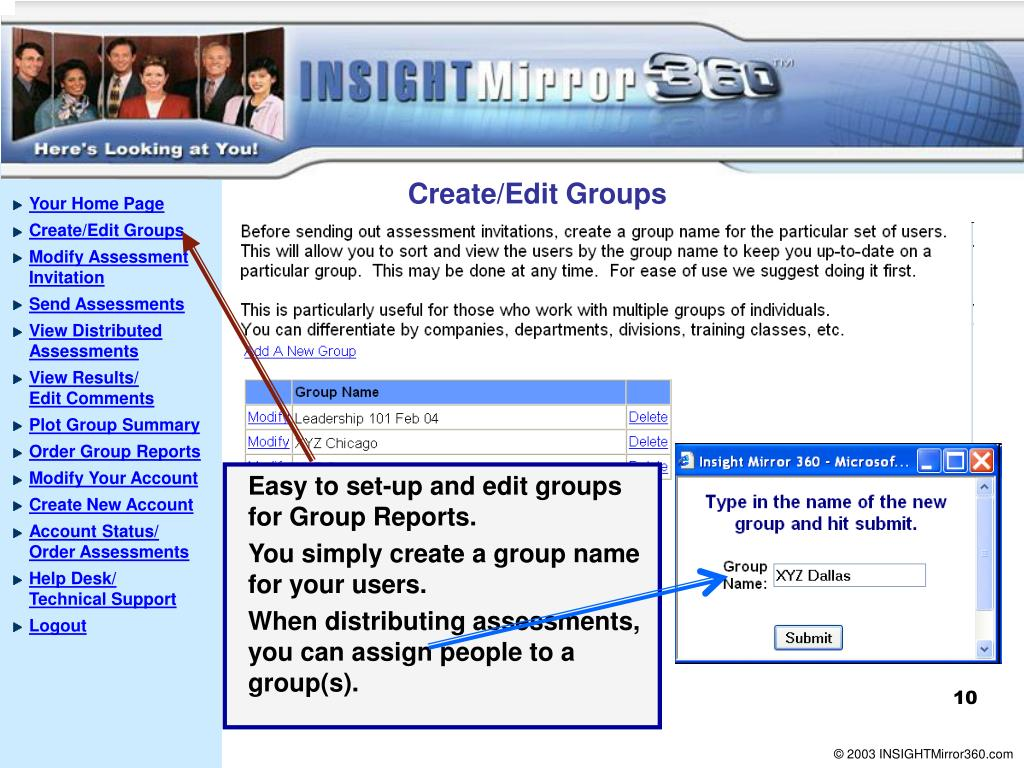 Create/Edit Groups