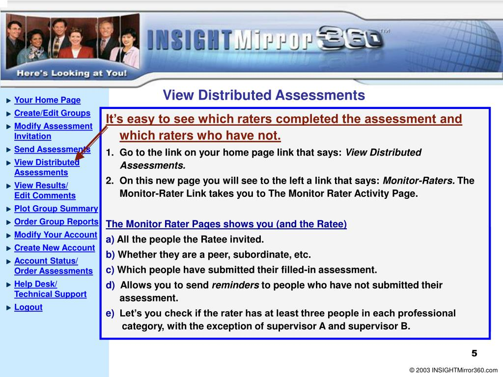 View Distributed Assessments