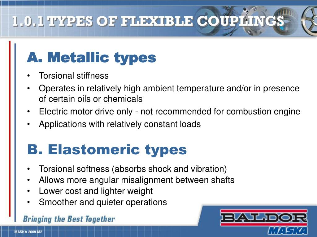 1.0.1 TYPES OF FLEXIBLE COUPLINGS