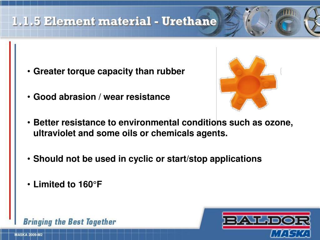 1.1.5 Element material - Urethane