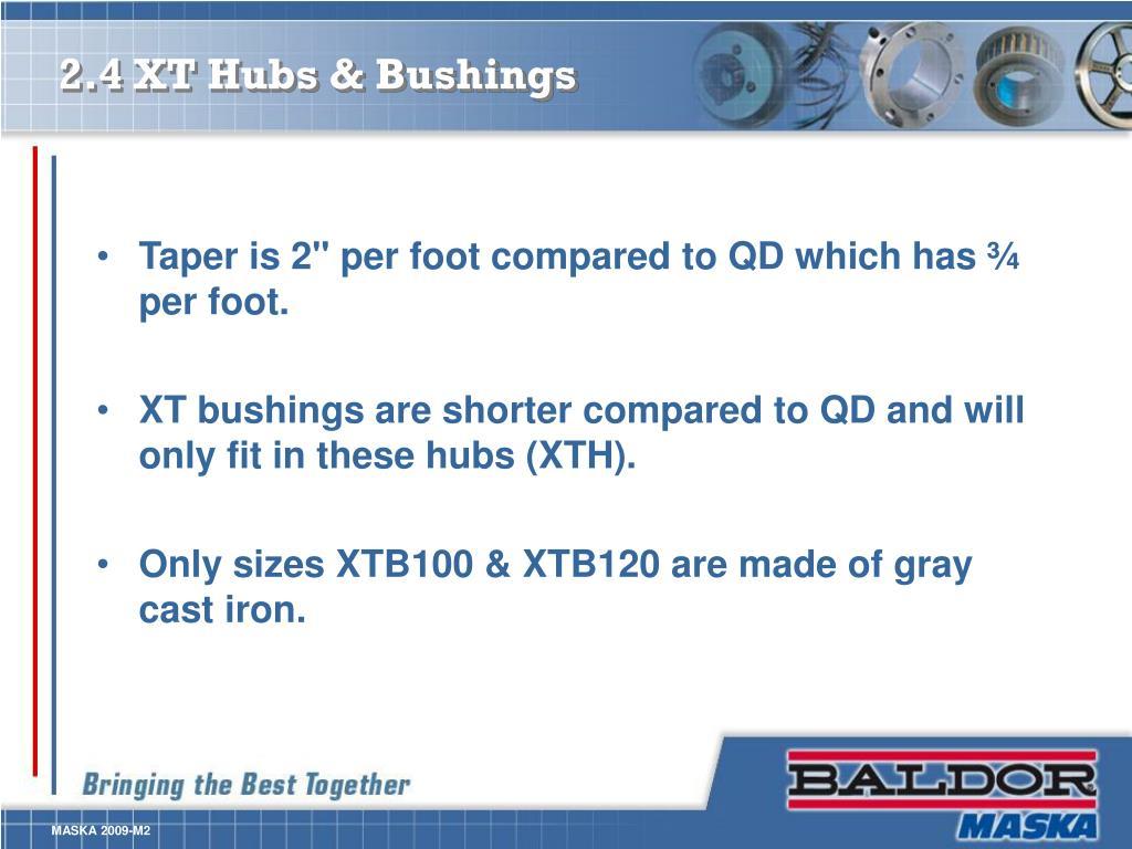 2.4 XT Hubs & Bushings