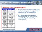 2 5 xt hub bushing designation