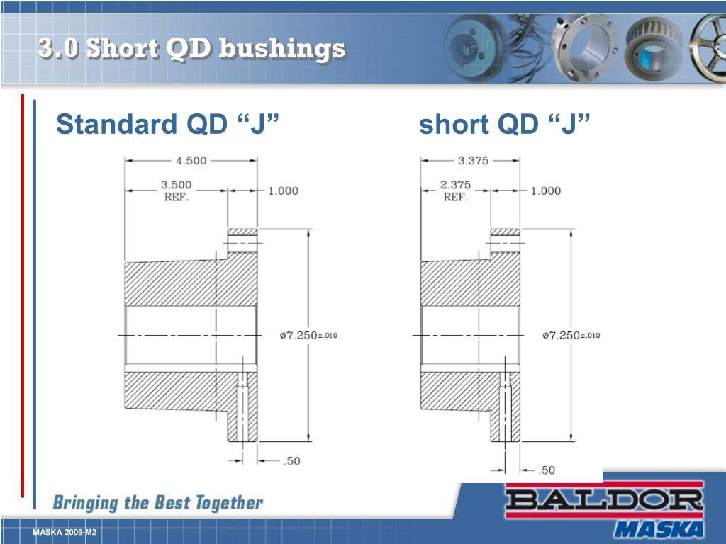 3.0 Short QD bushings
