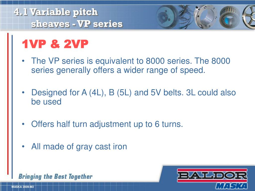 4.1 Variable pitch